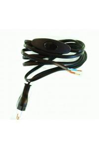 Cordon électrique noir
