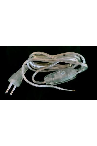 Transparent electric cord