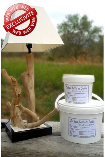 Polvo de piedra 1 kg - Realización de bases y fijación de madera flotante.