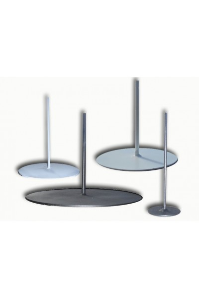 Round metal base 25 cm - lamp base metal
