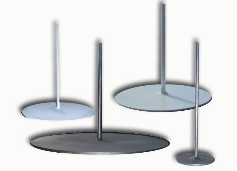 round metal base 25 cm - lamp base metal