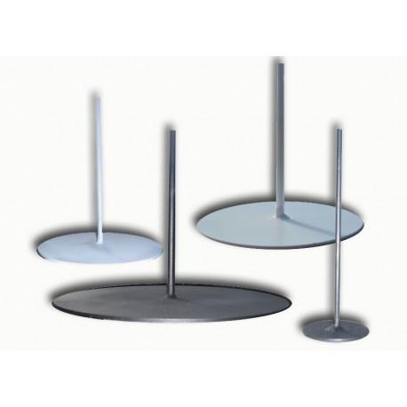 Socle rond en m tal 40 cm pied de lampe for Pied de lampe en bois flotte