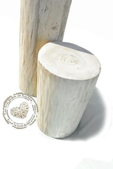Stamm aus poliertem Treibholz