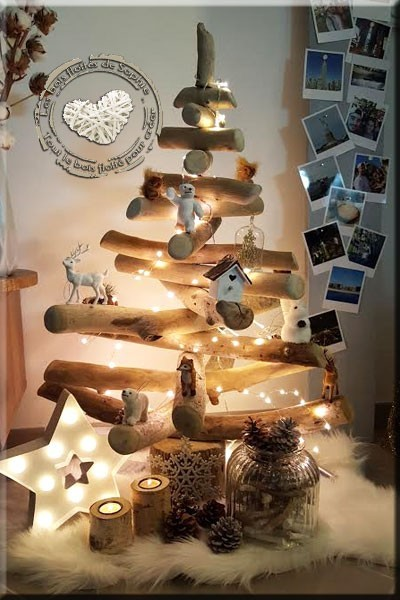 Driftwood christmas trees for a creative and eco friendly - Que faire avec des palettes ...