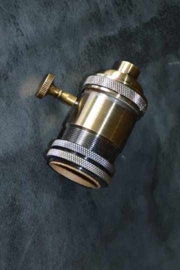 Douille électrique VINTAGE bronze avec interrupteur