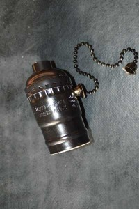 Douille électrique couleur bronze E27
