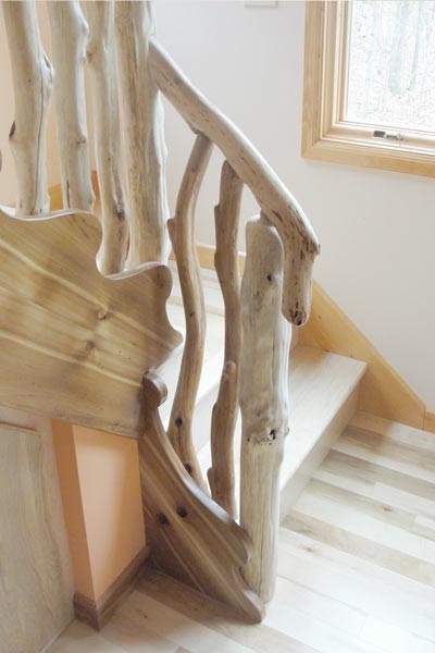 main courante rampe d 39 escalier ou rambarde en bois flott