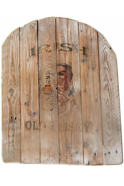 panneau en bois recycl irish old whisky pour d coration shabby chic. Black Bedroom Furniture Sets. Home Design Ideas