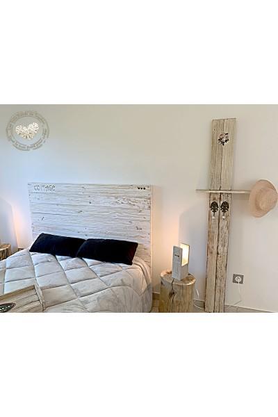 Tête de lit en planches recyclées Modèle COTTAGE