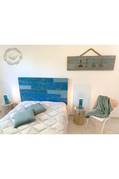 Tête de lit en planches recyclées Modèle Saleccia