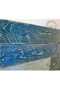 Tête de lit en planches de palette Modèle CAMAIEU BLEU