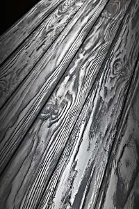 Panneau revêtement mural planches palettes grisé