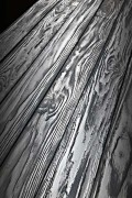 Panneau revêtement mural planches palettes grisées