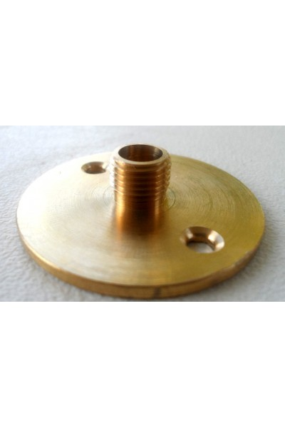 Drilled brass plate male 4 cm