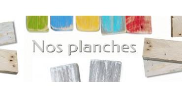 Planches bois flotté et palettes