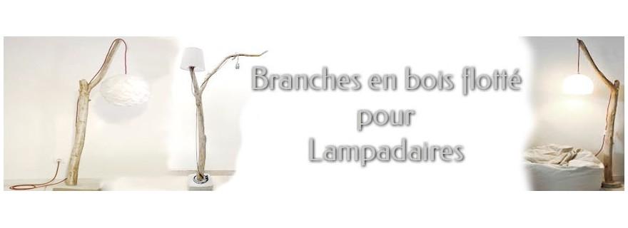 Branches en bois flotté pour lampadaire